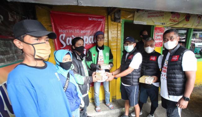 Gandeng 50 Warung Makan, Mitratel Berikan Sarapan Gratis Bagi Para Pekerja Non Formal