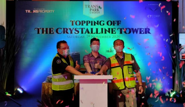 Trans Park Cibubur Topping Off Tower The Crystalline Tower