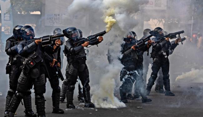 Demo Tolak Omnibus Law Ricuh di Kota Kelahiran Jokowi