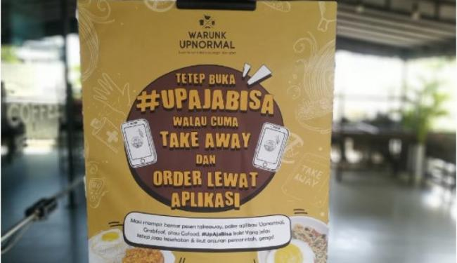 Jakarta PSBB Ketat! Warunk Upnormal Lakukan 3 Upaya Dukung Aturan Pemerintah