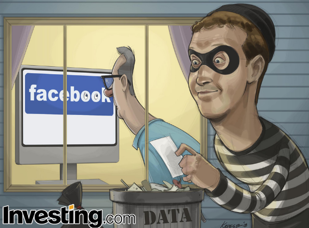Facebook shares tumbled as a firestorm continue