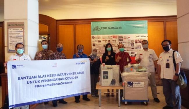 MAI Foundation Bareng Bank Mandiri Salurkan Bantuan Ventilator