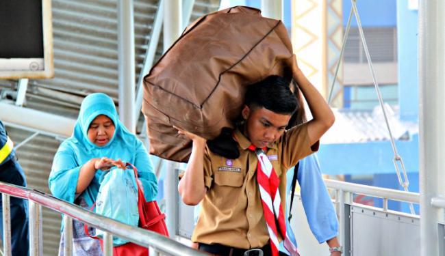 Puncak Arus Balik, Petugas Gabungan Perketat Keamanan di Bakauheni