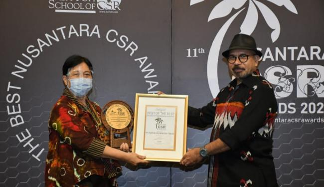 Pupuk Kaltim Kembali Diganjar Penghargaan, Kali Ini Best of The Best Nusantara CSR Awards 2020