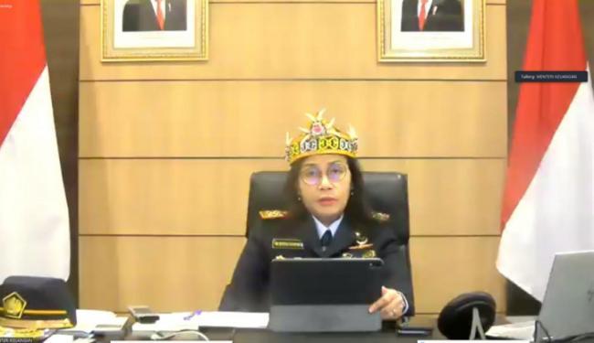 Asikkk, Rayakan HUT Ke-74, Bu Menteri Keuangan Ikut Meriahkan Virtual Hari Bea Cukai