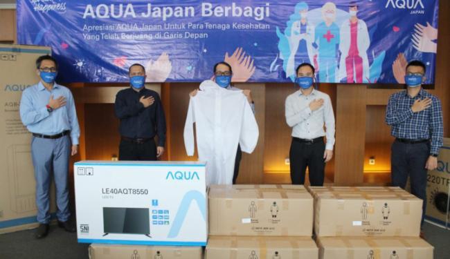 Apresiasi Petugas Kesehatan, AQUA Japan Donasikan 1.356 Unit APD